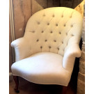Antique French Crapaud in Antique Linen