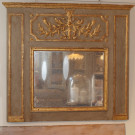 18thC Antique French Trumeau Mirror