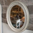 Antique Oval French Mirror