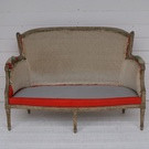 Antique French Canape For Re-upholstery