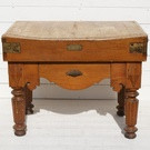 Antique French Butchers Block