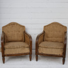 Pair of 1920's Club Chairs