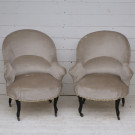 Pair of Antique French Armchair - Upholstery Inclusive