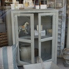 Vintage Painted Glazed Cabinet