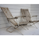 Pair of Antique French Garden Armchairs