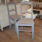 Pair of Antique Painted French Chairs