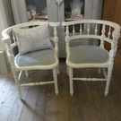 Pair of Vintage French Corner Chairs