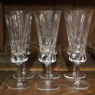 Set of 6 French Crystal Champagne Glasses