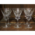 Set of 6 French Crystal Wine Glasses