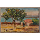 20thC Miniature Oil Painting