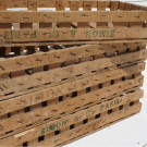 Antique French Fruit Picking Crates