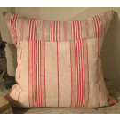 19thC French Ticking Cushion