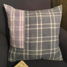 19thC French Patched Check Cushion