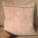 Antique French Linen Cushion