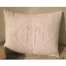 Antique French Monogrammed Cushion