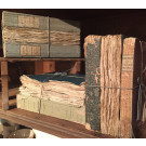 Bundles of French 18thC Faded Blue Books