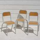 1950's French School Chairs