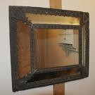 Antique French Cushion Glass Mirror