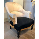 Antique French 'Crapaud' Armchair