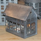 Walther & Co Zinc House Lantern - Medium