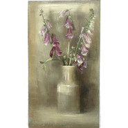 'Foxgloves in Mustard Pot' by Andrew Douglas-Forbes